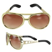Elvis Signature Glasses Gold