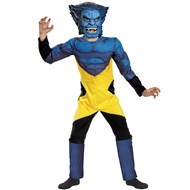 X-Men Marvel Beast Muscle Deluxe Child