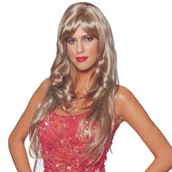 Deluxe Dreamgirl Wig (Honey Blonde)