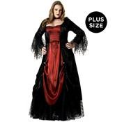 Gothic Female Vampire Costume Plus Sized