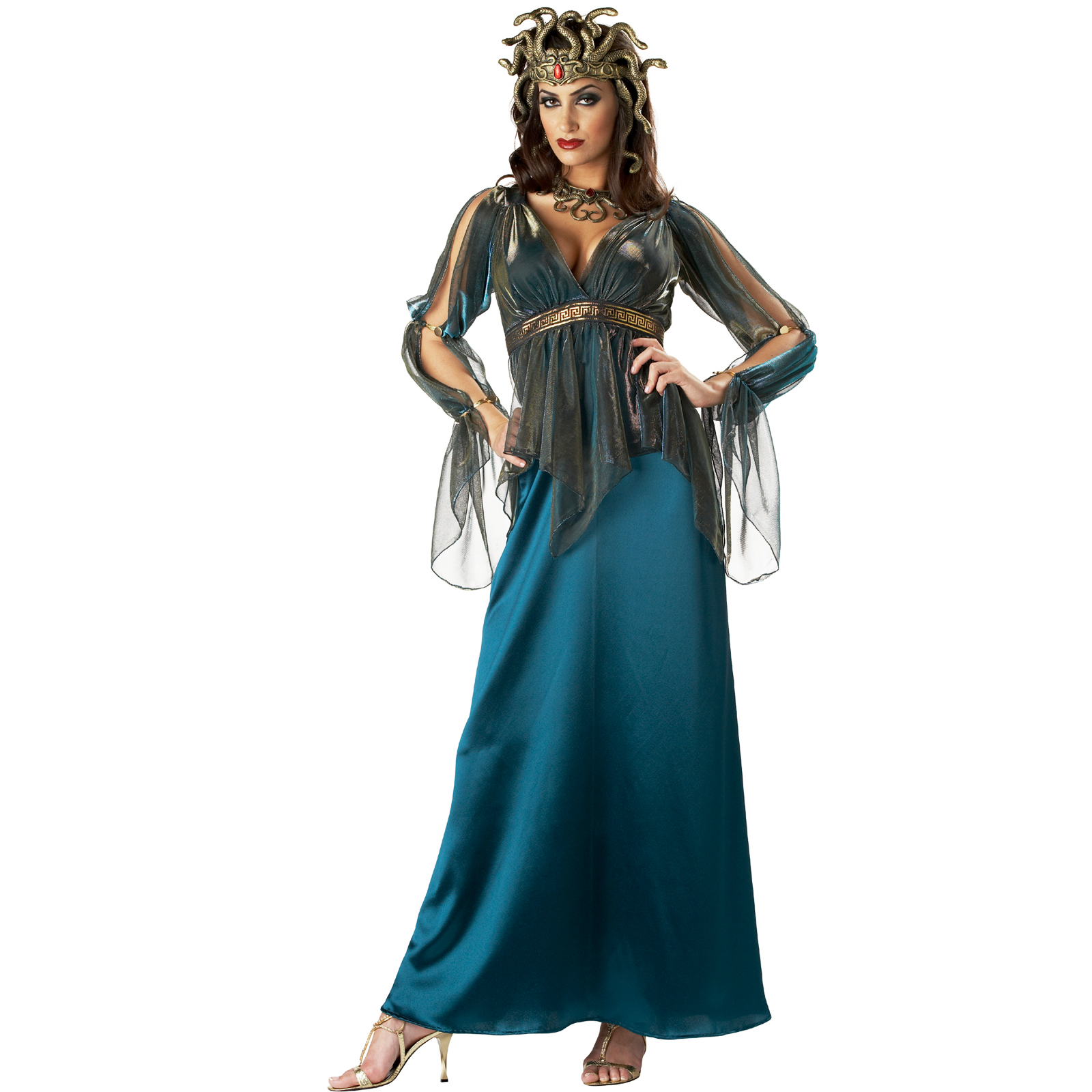 MEDUSA Womens Costume Greek Myth Goddess Grecian 12-14 DISGUISE