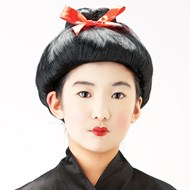 Child Geisha Wig - Black