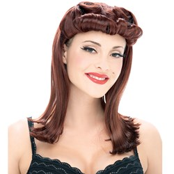 Paper Magic Adult Pinup Wig - Auburn- Red: One-Size