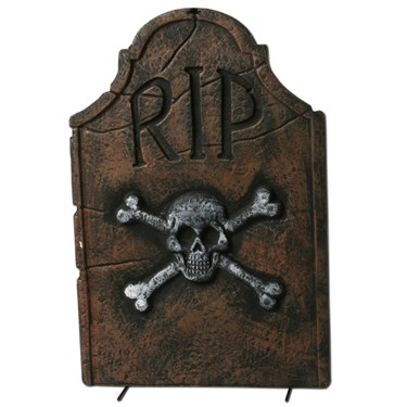 "22"" Skull and Crossbones RIP Tombstone"