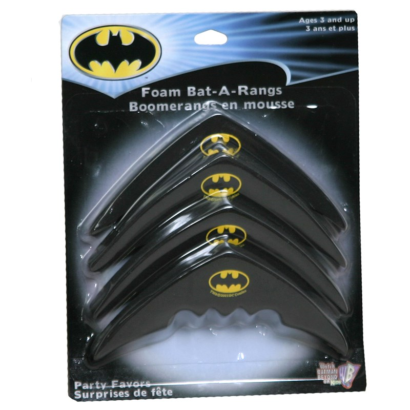 Batman Foam Bat A Rangs (4 count) for the 2015 Costume season.