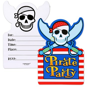 Pirate Party Invitations (8 count)