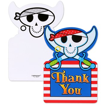 Pirate Party Thank You Postcards (8 count)