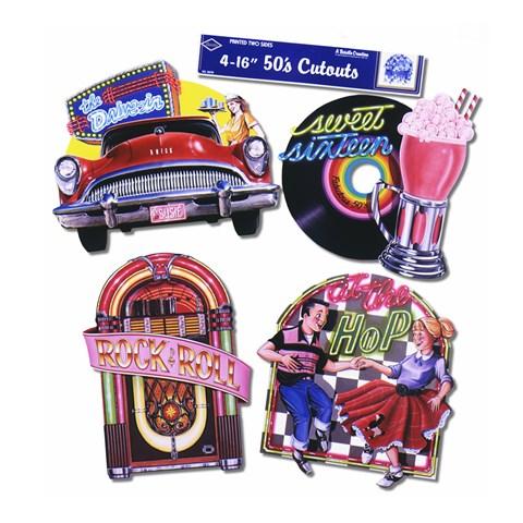 Sock Hop Fabulous 50's Cutouts (4 count)
