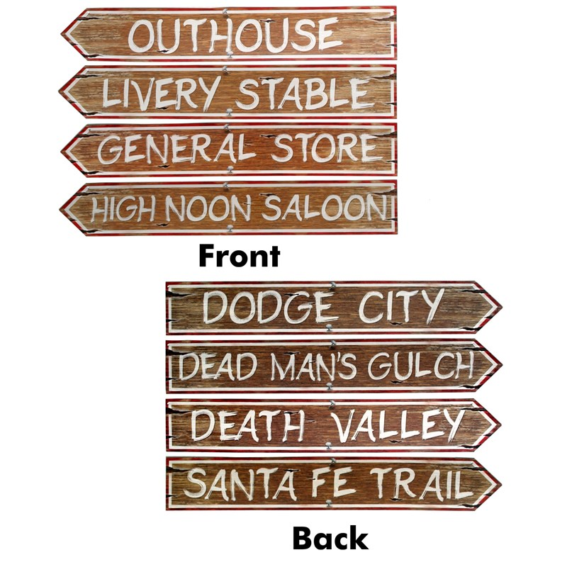 Western Sign Cutouts (4 count) for the 2015 Costume season.