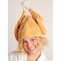 Plush Turkey Hat Adult