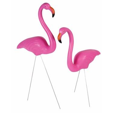 "25"" Flamingo Lawn Decoration (Set of 2)"