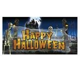 Eerie Estates Haunting Halloween Giant Banner