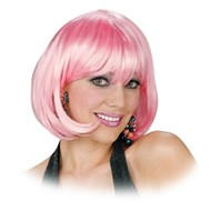 Short Bob Wig (Light Pink)