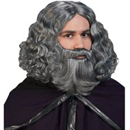 Biblical Wig & Beard Set - Grey