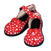 Red and White Polka Dot Mary Jane Clown Shoes