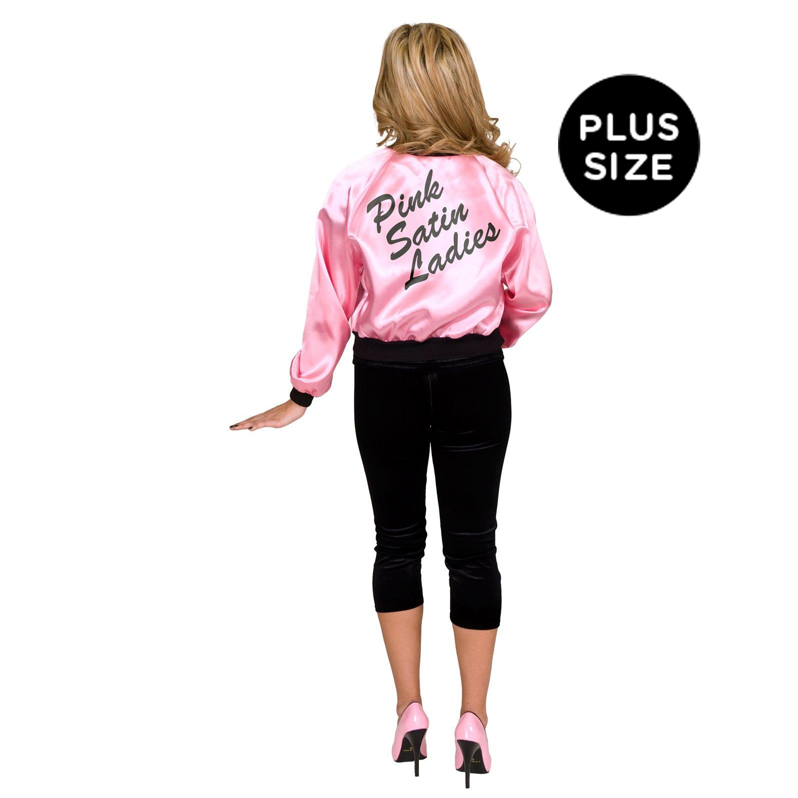 Pink Satin Ladies Jacket Adult Plus Costume