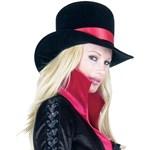 Velvet Hat w/ Satin Bow