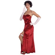 Betty Boop Long Velvet Dress Adult