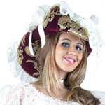 Pirate's Bride Burgundy Hat