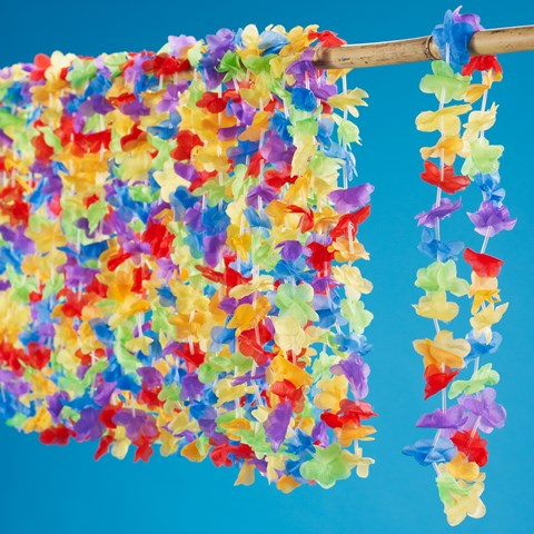 "Multi Colored 36"" Flower Leis (25 count)"