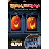 Pumpkin Window Magic Decorations (2 count)