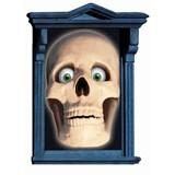 Skull Window Magic Decorations (2 count)
