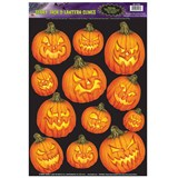 Scary Jack-O-Lantern Clings (12 count)