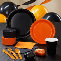 Black Orange Party Supplies