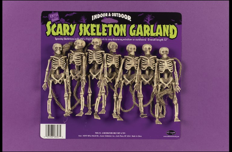 Scary Skeleton Garland for the 2015 Costume season.