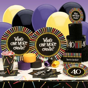 One More Candle 40 Deluxe Party Kit