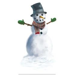 Snowman Peel 'N Place