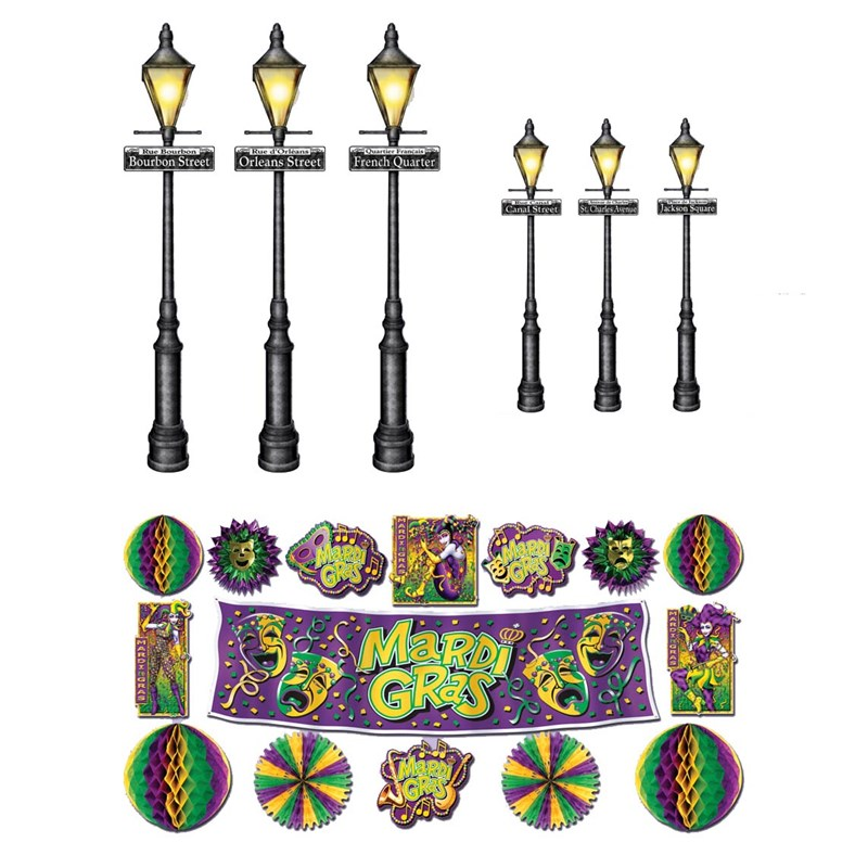 Mardi Gras Decor Street Lights Props Wall Add Ons for the 2015 Costume season.
