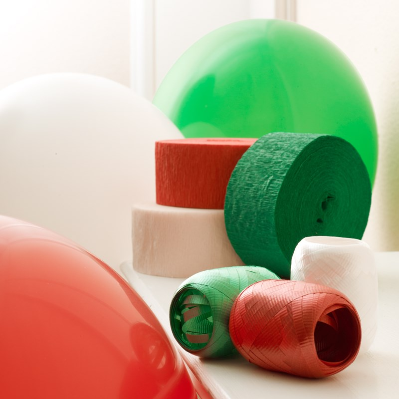 Red, Green and White Decorating Kit for the 2015 Costume season.