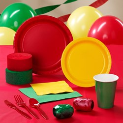 Red, Yellow and Green Deluxe Party Kit