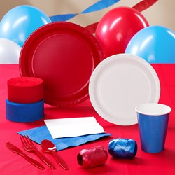 Red, White and Blue Deluxe Party Kit