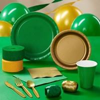 Green Gold Party Supplies