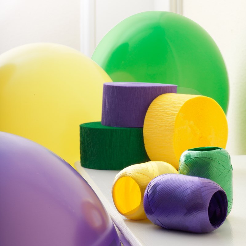 Purple, Yellow and Green Decorating Kit for the 2015 Costume season.