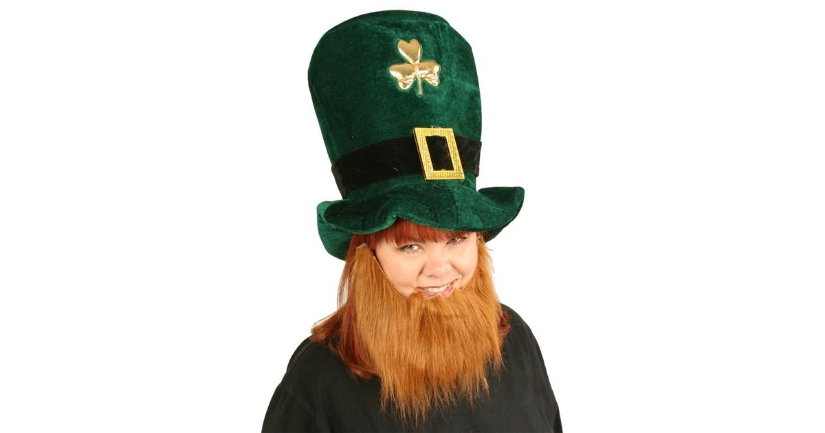 Plush Leprechaun Hat With Beard Buycostumes Com