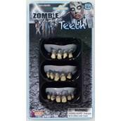 3 Pack Zombie Teeth Adult