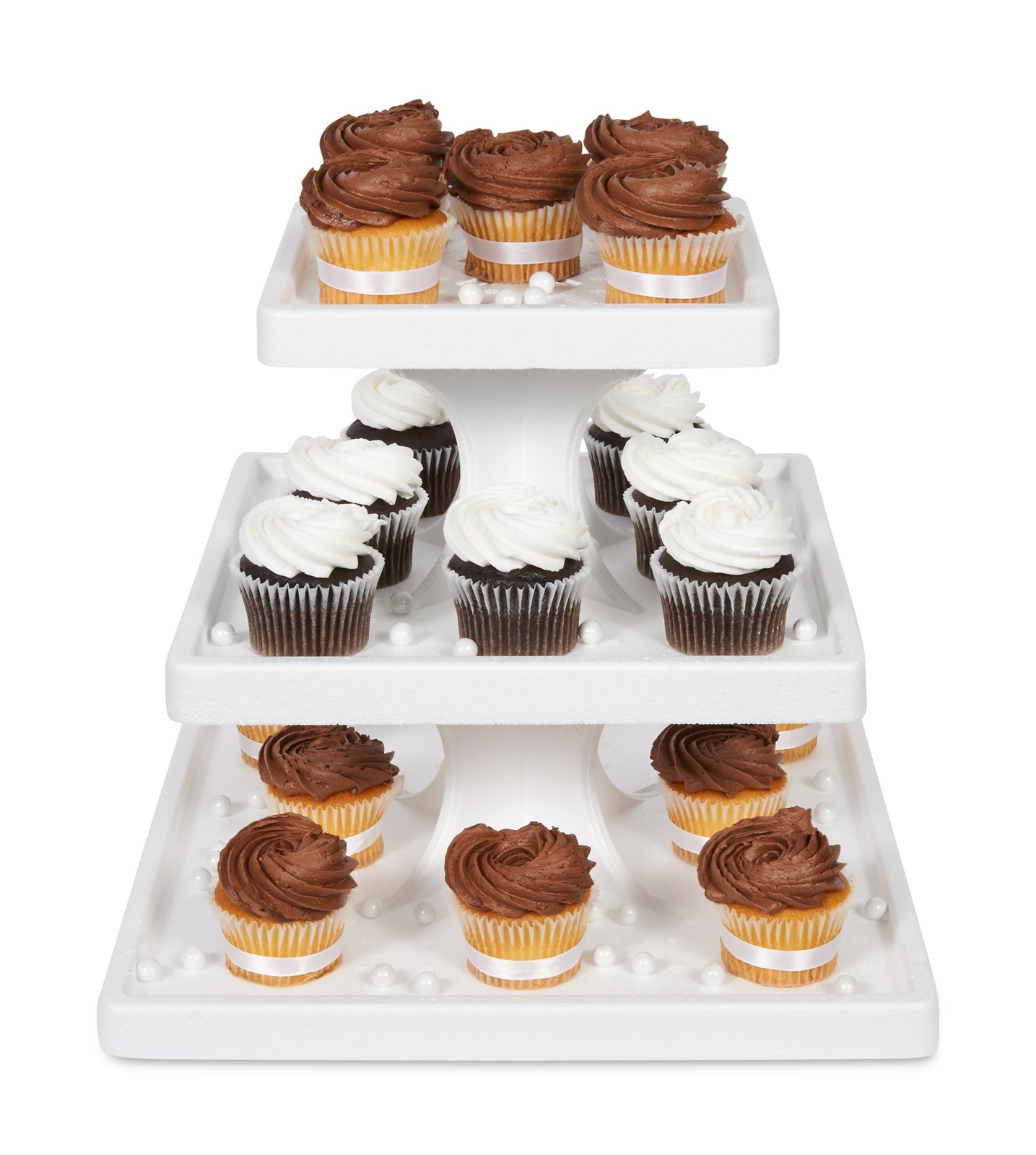 Square Towering Tiers Cake Stand