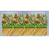 30' Tropical Flower & Bamboo Wall Border Roll