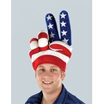 Plush Peace Hand Hat