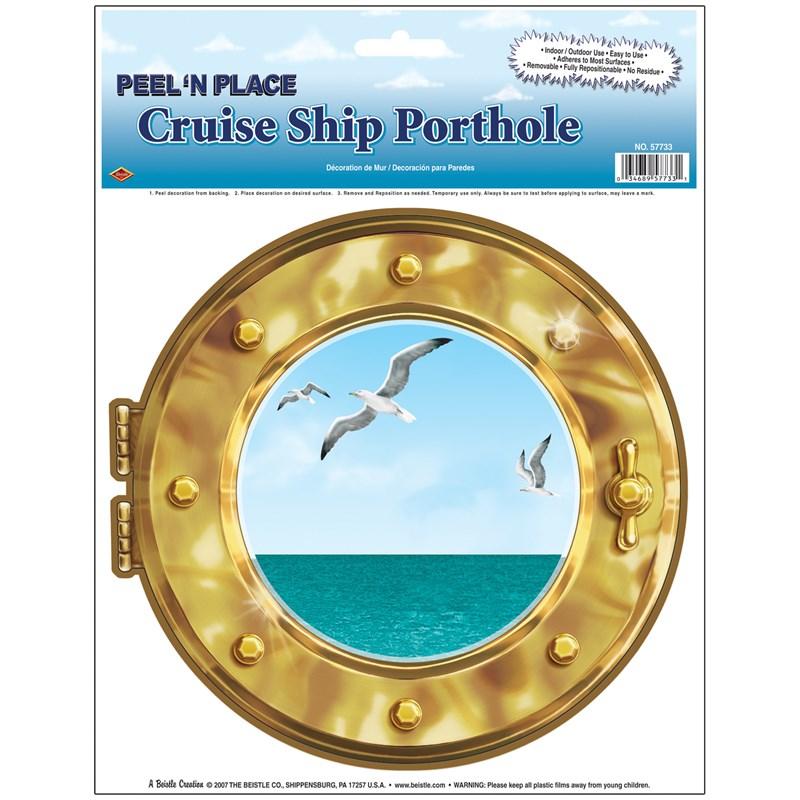 Peel N Place Cruise Ship Porthole for the 2015 Costume season.