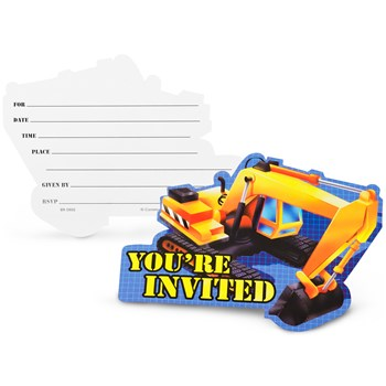 Under Construction Invitations (8 count)