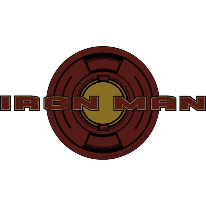 Halloween Costumes Iron Man T shirt Emblems (4 count)