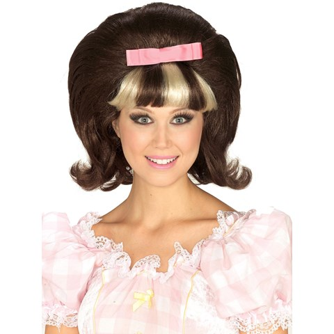 60's Princess Brown/Blonde Combo Wig