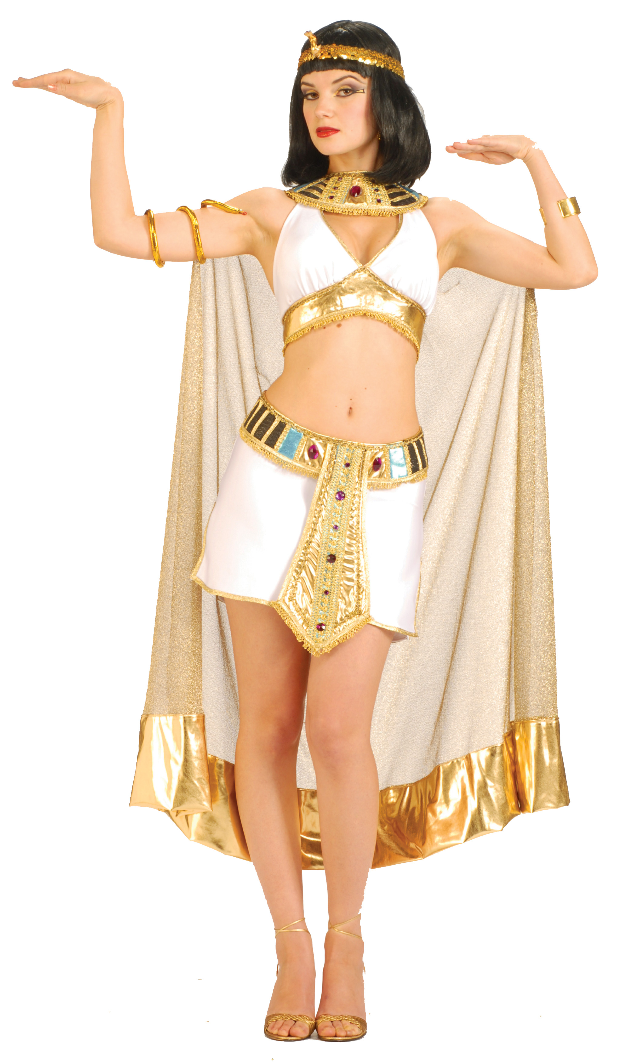Forum Novelties Adult Sexy Cleopatra Costume Adult- White: Medium/Large (8-12)