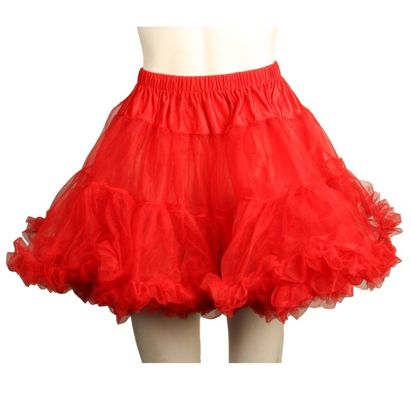 Layered Tulle (Red) Adult Petticoat for the 2015 Costume season.