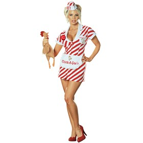 Chick -A- Dee's Chincken Shack Waitress Adult