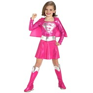 Pink Supergirl Child Costume